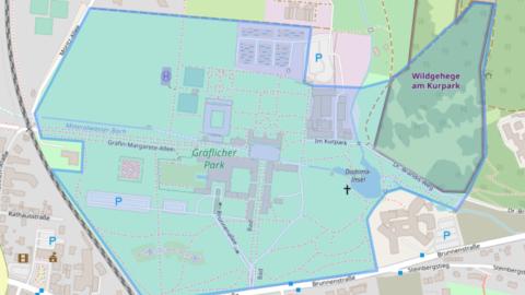 Karte der Parkausdehnung laut Gutachten