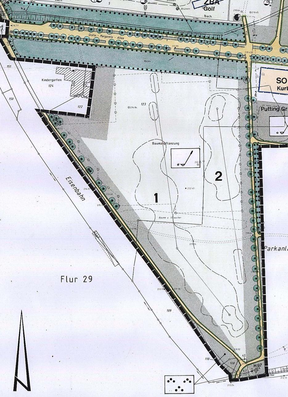 Bebauungsplan: Südlicher Teil de Golfgeländes