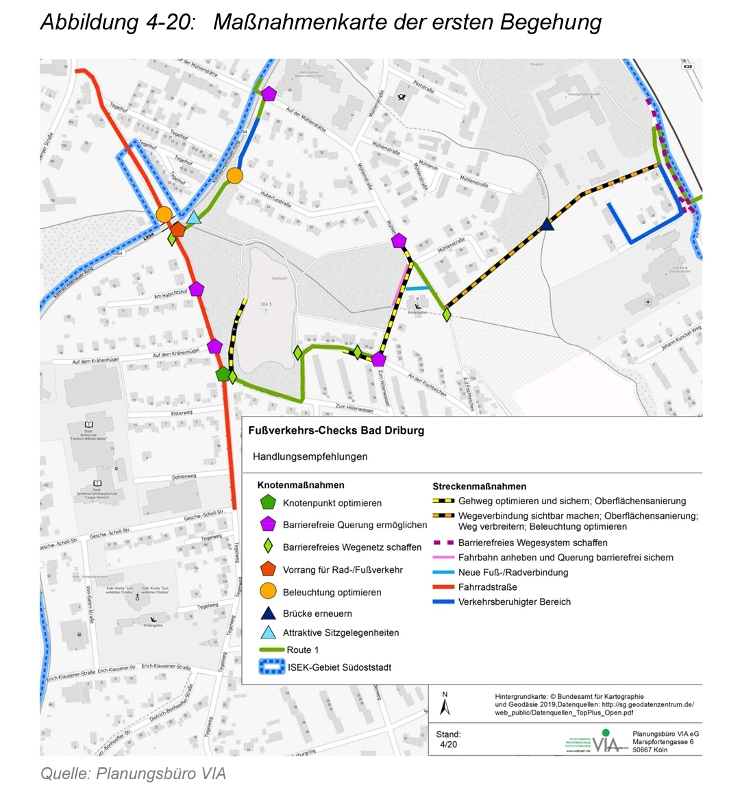 Fuss/Radweg entlang dem Konrad-Adenauer-Ring mit Überquerung des Tegelweges